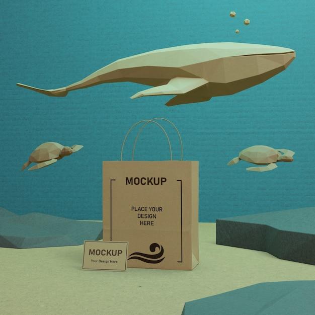 モックアップで海の日海の生活概念 無料 Psd