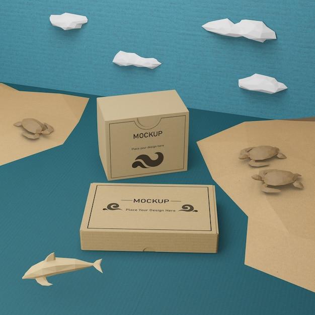 モックアップコンセプトと海の日の海の生活 無料 Psd