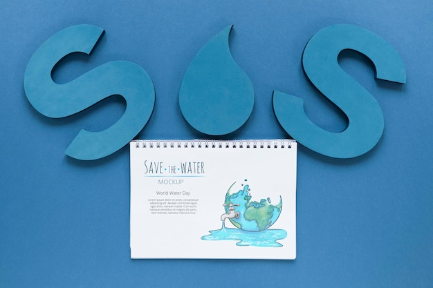 Ocean day sos save the waters Free Psd