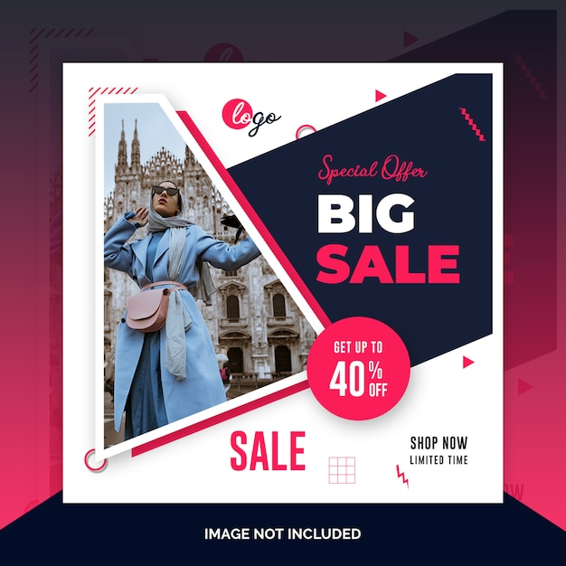 Offer sale web social media banner template Premium Psd