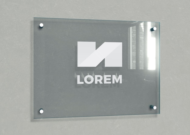Office buildings identification plate Premium Psd