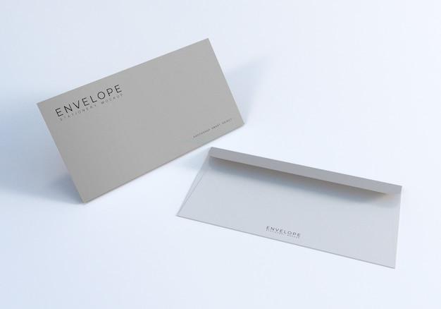Office envelope mockup design template Premium Psd