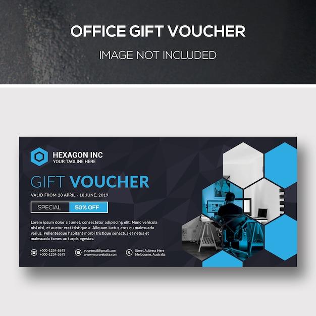 Office gift voucher Premium Psd