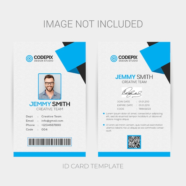 Office Id Card Template PSD File
