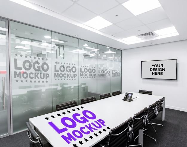 Office mockup for logo PSD file | Premium Download