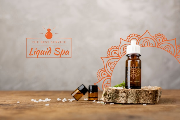 Oily natural products for spa massage Free Psd