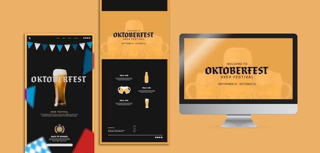 Шаблоны концепций октобербест в разных форматах Бесплатные Psd