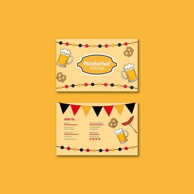 Oktoberfest business card template Free Psd