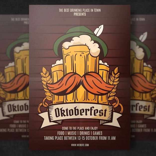 Oktoberfest flyer template Premium Psd
