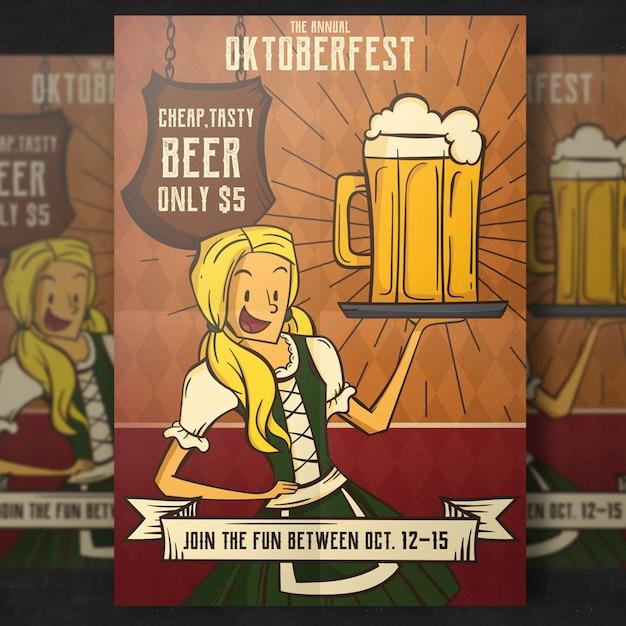 Oktoberfest flyer template Free Psd