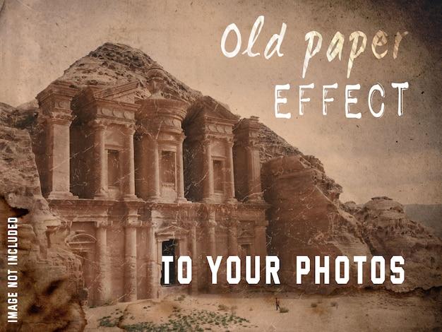Эффект старой бумаги для ваших фотографий Бесплатные Psd