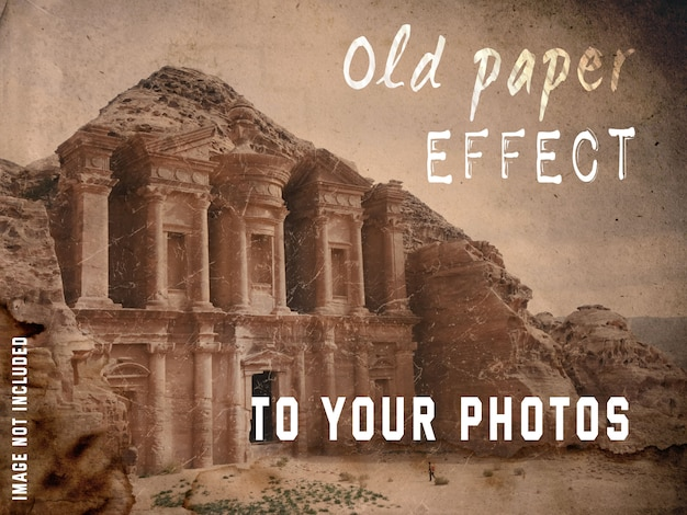 Old paper effect to your photos Free Psd