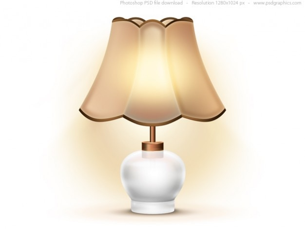 Perfect Old Table Lamp Icon (PSD) Free Psd