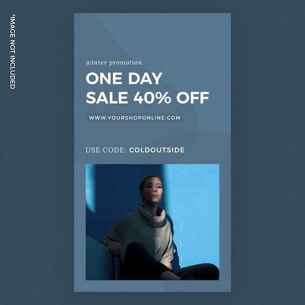 One day sale fashion instagram story template ads Premium Psd