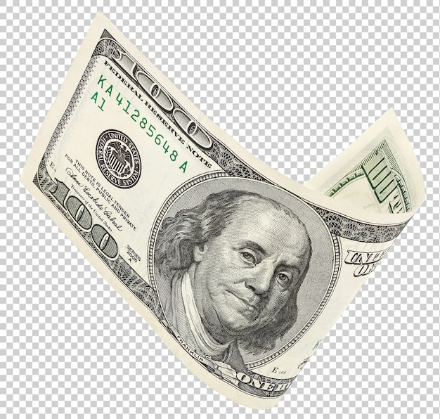 One hundred dollar banknote Premium Psd