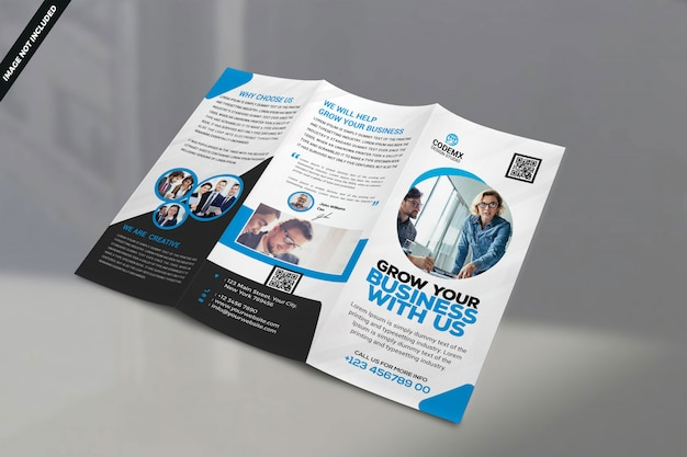 One side corporate brochure template Premium Psd