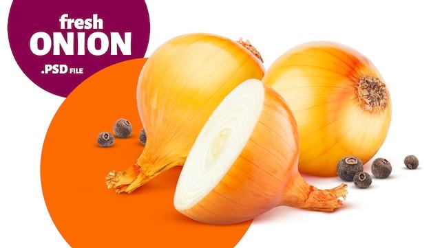Onion and black pepper banner Premium Psd