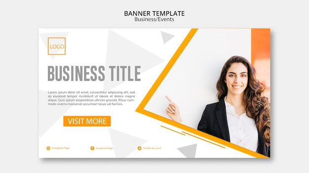 Online banner template concept for companies Free Psd