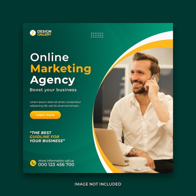 Online business agency and modern creative web banner template Premium Psd