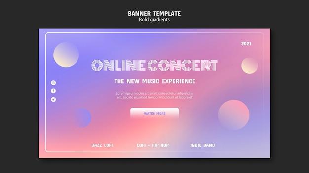 Шаблон баннера онлайн-концерта Бесплатные Psd