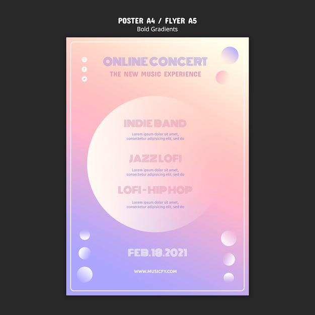 온라인 콘서트 포스터 템플릿 무료 PSD 파일