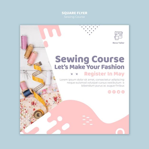 Volantino quadrato per cucire corsi online Psd Gratuite