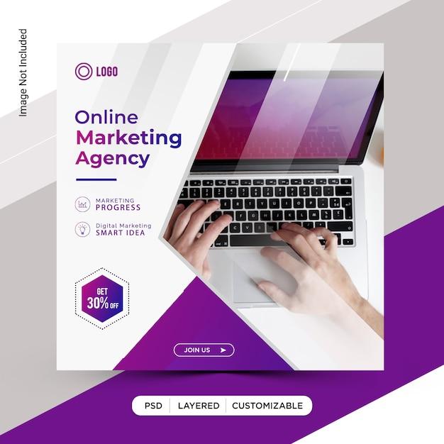 Online digital marketing  template design Premium Psd