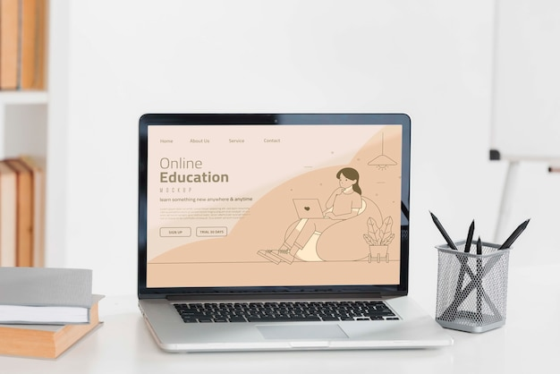 Online education landing page Free Psd