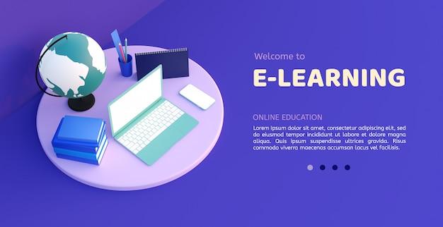 Online education modern Premium Psd