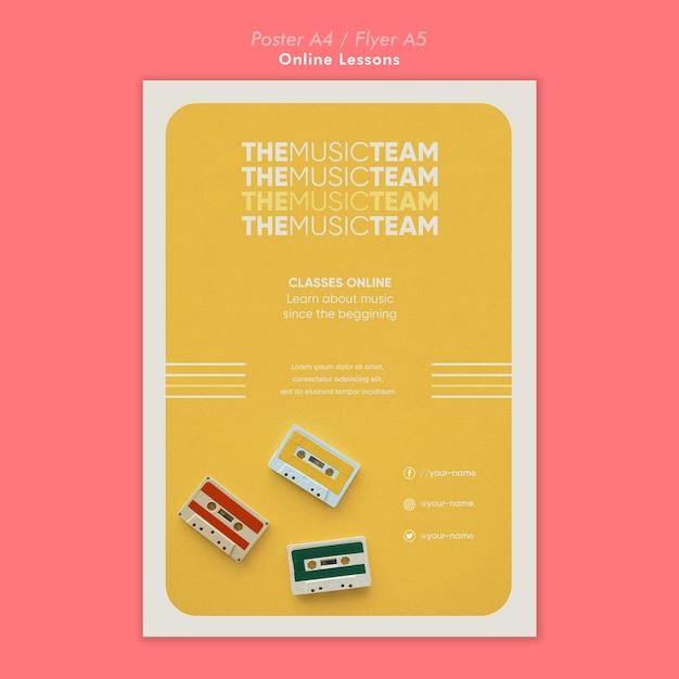 Poster di lezioni online Psd Gratuite