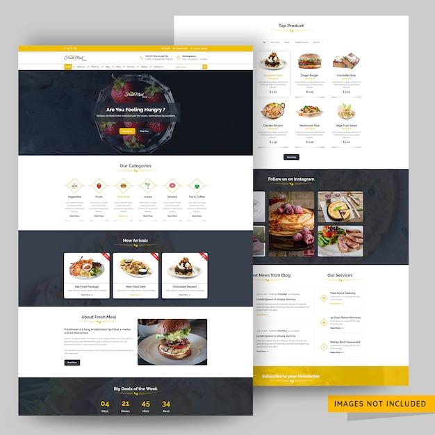 Online organic food store web page premium psd Premium Psd