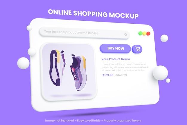 分離されたオンラインショッピングのeコマースモックアップ Premium Psd