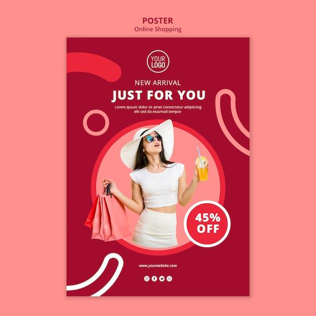 オンラインショッピングポスターテンプレート 無料 Psd