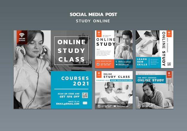 Изучите публикации в социальных сетях онлайн Бесплатные Psd