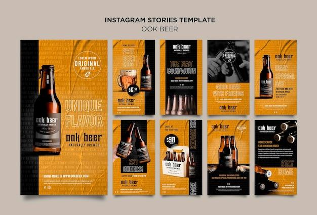 Ook beer instagram stories template Premium Psd