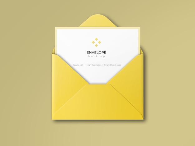 Open envelope mockup | Premium PSD File