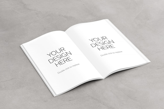 Open magazine pages mock up Premium Psd