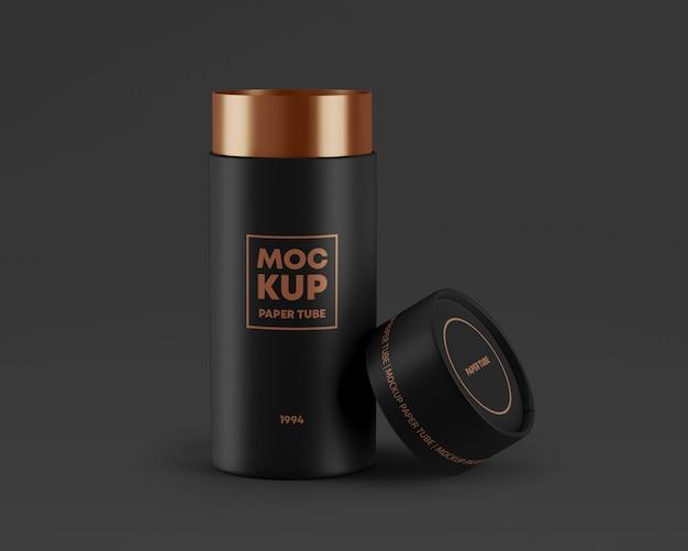 Open paper tube mockup Premium Psd