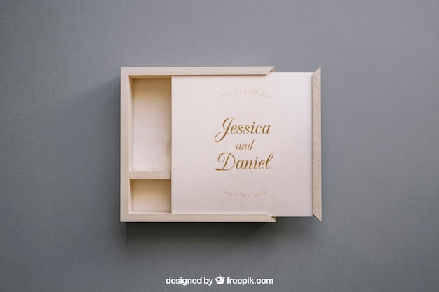 open wooden box mockup psd file free download