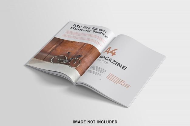 A4 잡지 모형 개설 프리미엄 PSD 파일