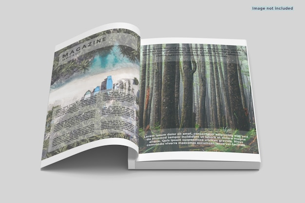 A4 magazineモックアップをオープン Premium Psd