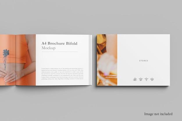 오픈 및 커버 조경 잡지 목업 디자인 프리미엄 PSD 파일