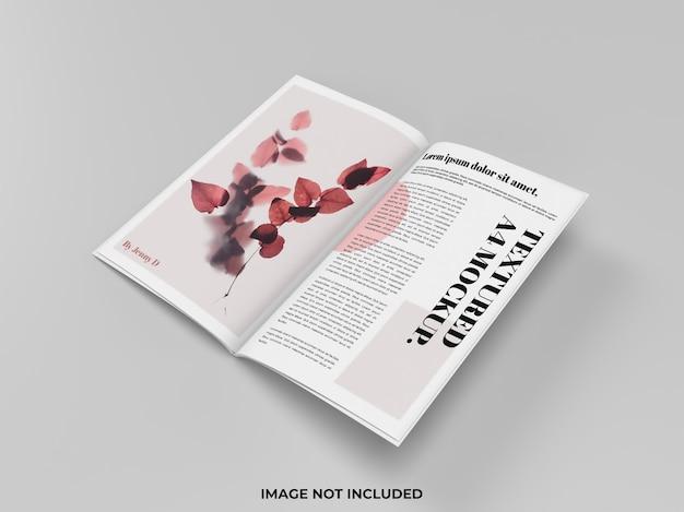 광고용 잡지 모형 오픈 프리미엄 PSD 파일