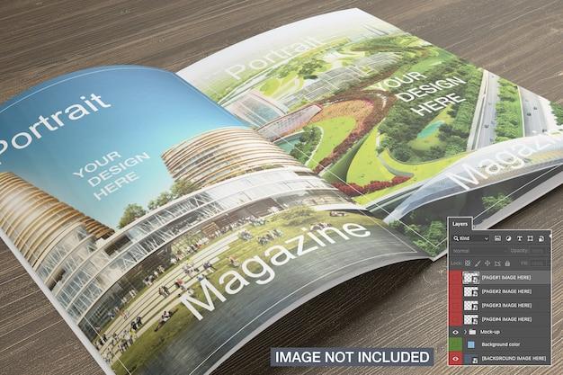 잡지 모형 개설 무료 PSD 파일
