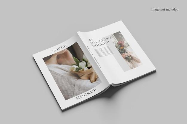 열린 투시도 잡지 목업 디자인 절연 프리미엄 PSD 파일