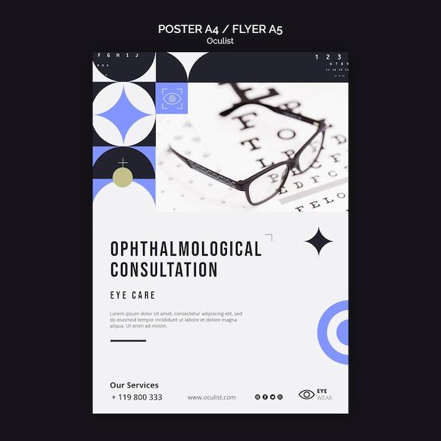 Modello di poster di consultazione oftalmologica Psd Gratuite