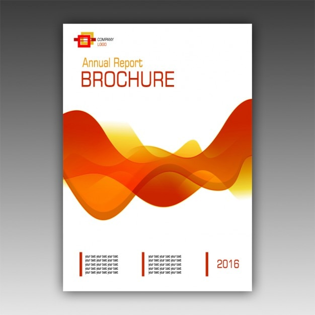 orange brochure template free psd