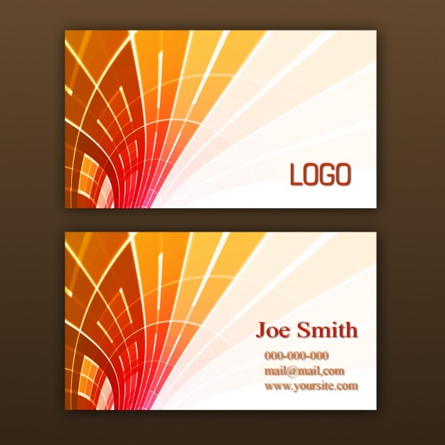 Orange Business Card Template Psd File Free Download