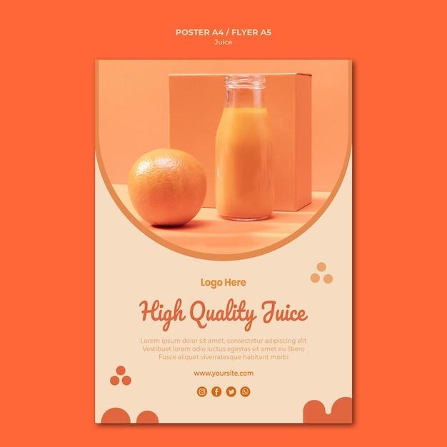 オレンジジュースチラシテンプレート 無料 Psd
