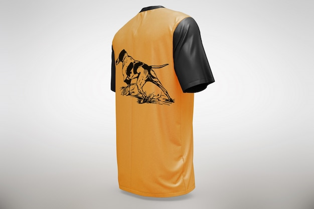 Orange t-shirt mock up Free Psd